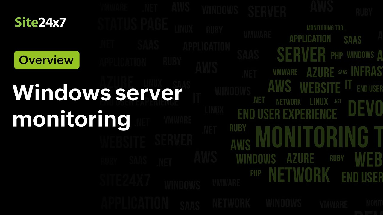 Windows Server Monitoring from the Cloud (SaaS) by Site24x7