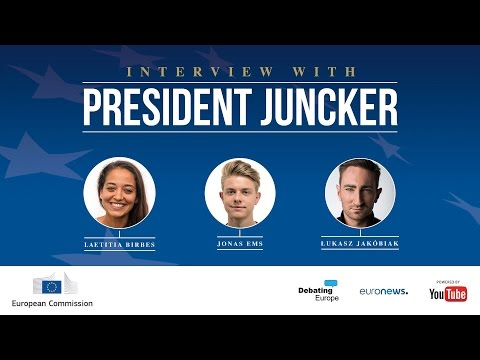 YouTube Interview with President Juncker - English