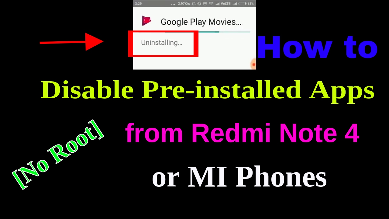 How To Disable Preinstalled Apps From Redmi Note 4 Or Mi Phones [no Root]