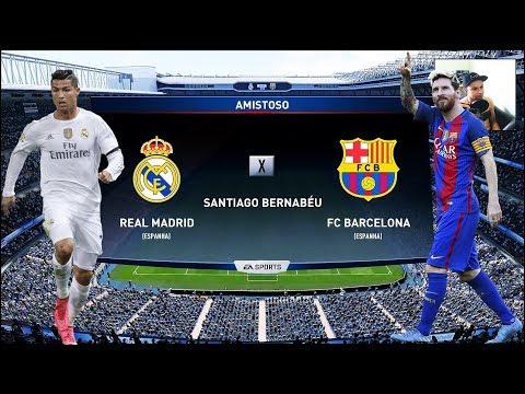FIFA 18 /ONLINE/ Real Madrid CF Vs FC Barcelona (MAIOR CLÁSSICO)