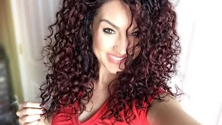 4 Everyday EASY Curly Hair Styles | My famous CURLY bun