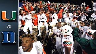 Miami vs. Duke Football Highlights (2015)