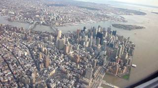 Flying over New York City and Ground Zero on Approach to Laguardia