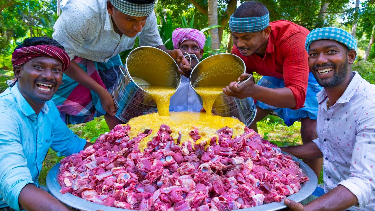 MUTTON GHEE ROAST | Ghee with Mutton Recipe Cooking In Village | Mutton Dry Chukka Recipe