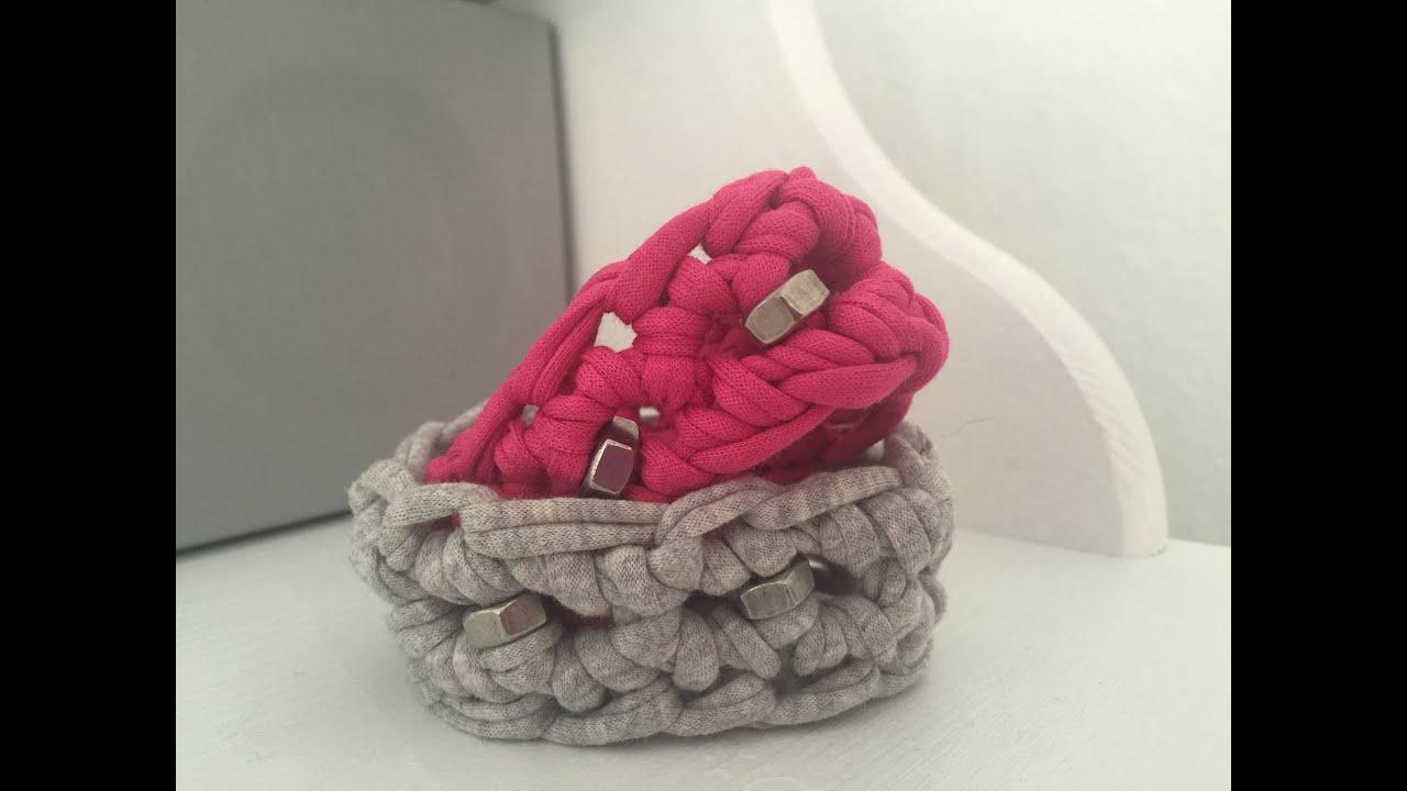 Häkeln: Rockiges Armband aus Textilgarn mit Sechskant-Muttern von ...