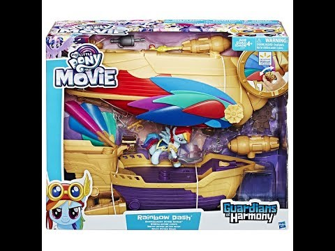 Overview Of The My Little Pony : The Movie Rainbow Dash Swashbuckler Pirate Airship