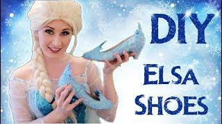 How to Make Frozen Elsa Shoes   DIY TUTORIAL
