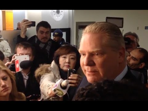 Things get heated between Doug Ford and media at City Hall