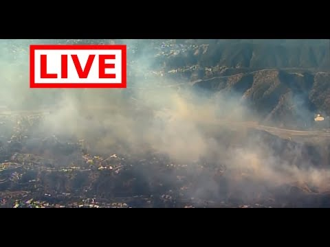 LIVE: Skirball Fire Burns in Los Angeles County near Getty Museum