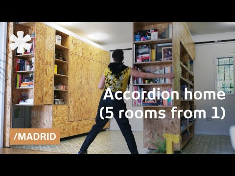 Madrid Accordion Home: Transforming Walls Get 5 Rooms From