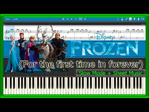 For the first time in forever - Frozen [Slow + Sheet Music] (Piano Tutorial)