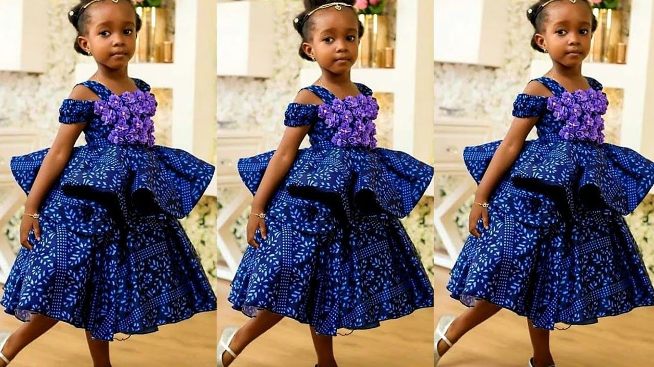 Download HOW TO MAKE A DOUBLE FLARE ANKARA DRESS FOR 1 YEAR OLD BABY GIRL