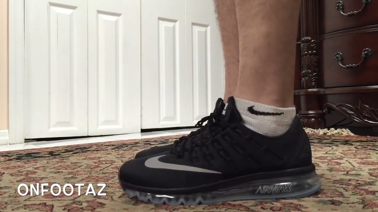 Air Max 2016 Black On Feet