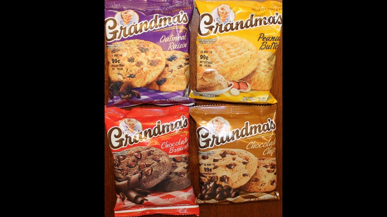 Grandma's Cookies: Oatmeal Raisin, Peanut Butter, Chocolate Brownie ...