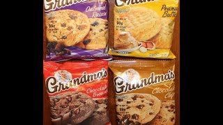 Grandma's Cookies: Oatmeal Raisin, Peanut Butter, Chocolate Brownie & Chocolate Chip Review