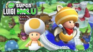 New Super Luigi U Deluxe ᴴᴰ   World 1 (All Star Coins) Solo Toad