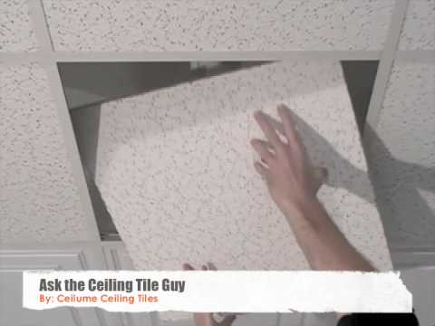 ceiling tiles how to replace youtube