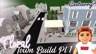 BLOXBURG | Floral Spring Town Speed Build Part 1
