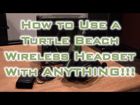 How To Use Xbox 360 Turtle Beach Wireless Headset With Xbox One, Playstation 4 Or Just To Watch TV.