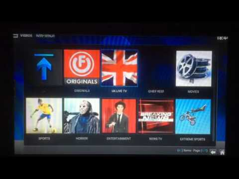 Demo of KODI XBMC on a Amazon Fire Tv part 1