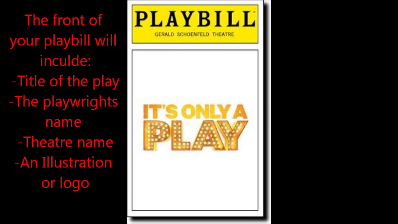 Playbill Project - YouTube In Playbill Template Word