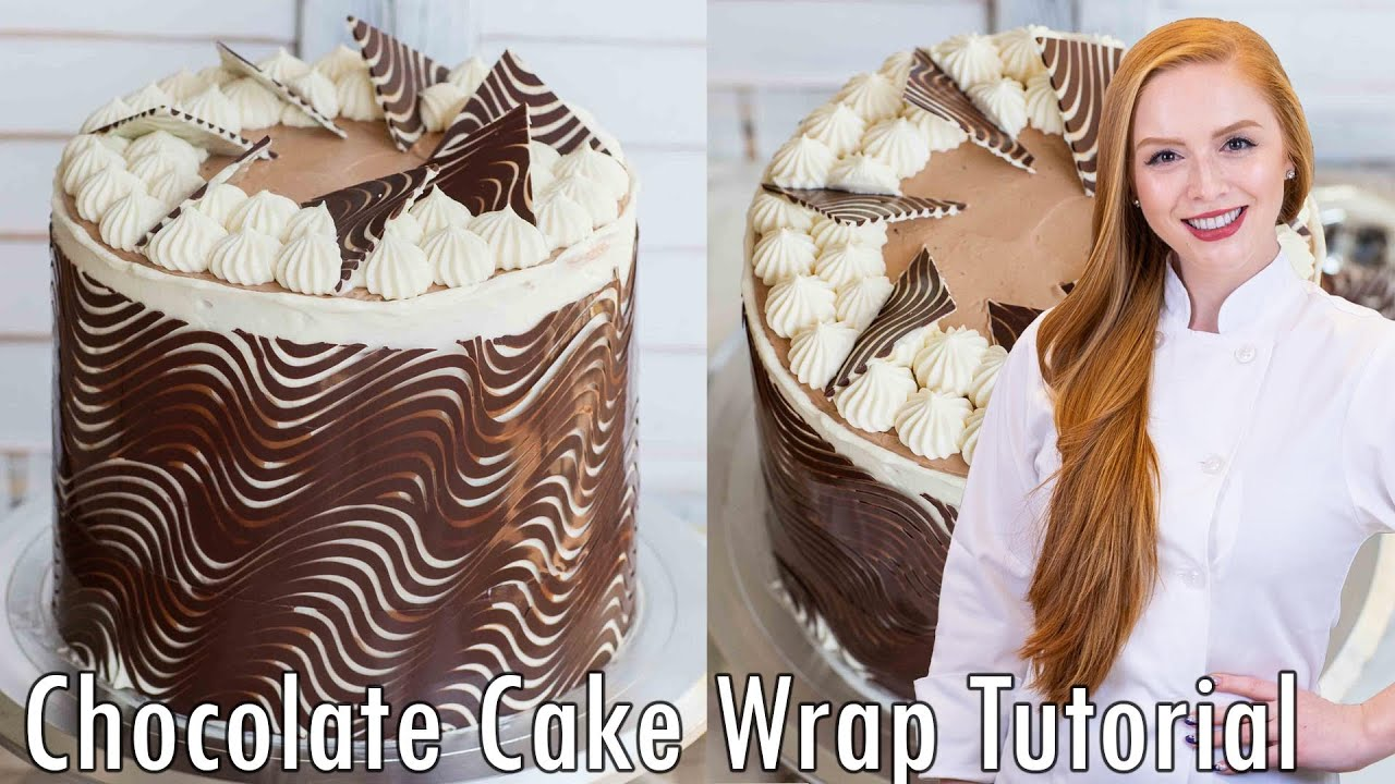 Chocolate Cake Wrap & Decorations - YouTube