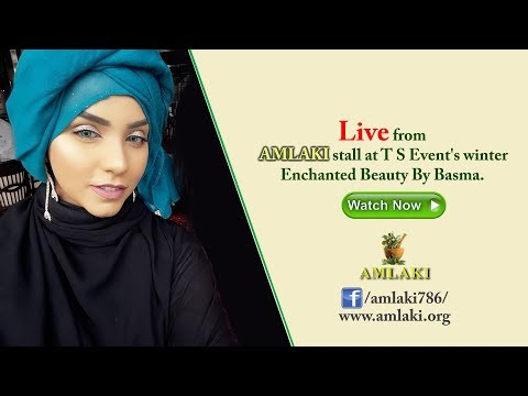Live from Amlaki stall at T S Event's winter Enchanted Beauty By Basma
