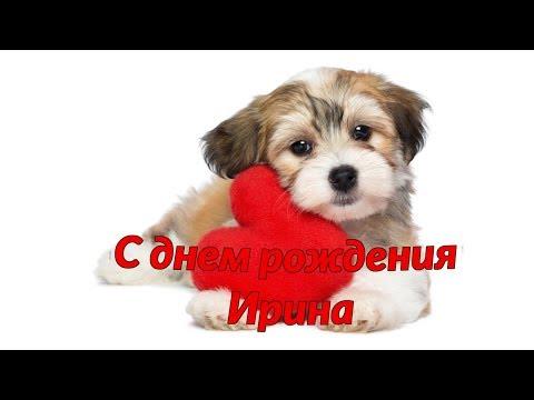 С днем рождения Ирина Поздравляю тебя! Красивая поздравление