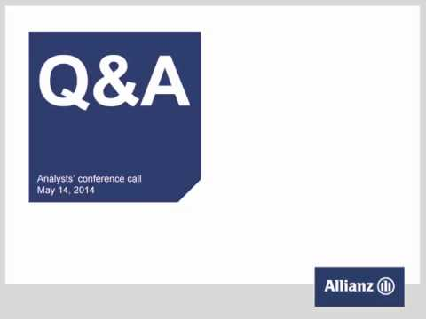 Allianz Group Analysts' conference call on first quarter 2014