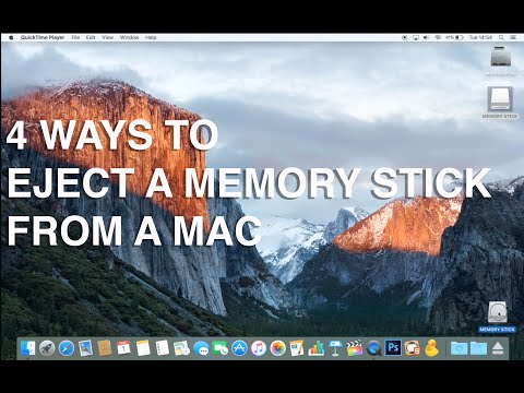 How to eject a memory stick from a Mac - Apple Training