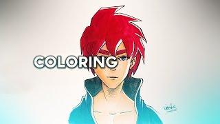 Coloring tutorial - Copics