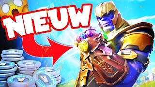 *NIEUW* THANOS INFINITY GAUNTLET GAMEPLAY!! 2.000 VBUCKS GIVE AWAY! Fortnite Battle Royale LIVE