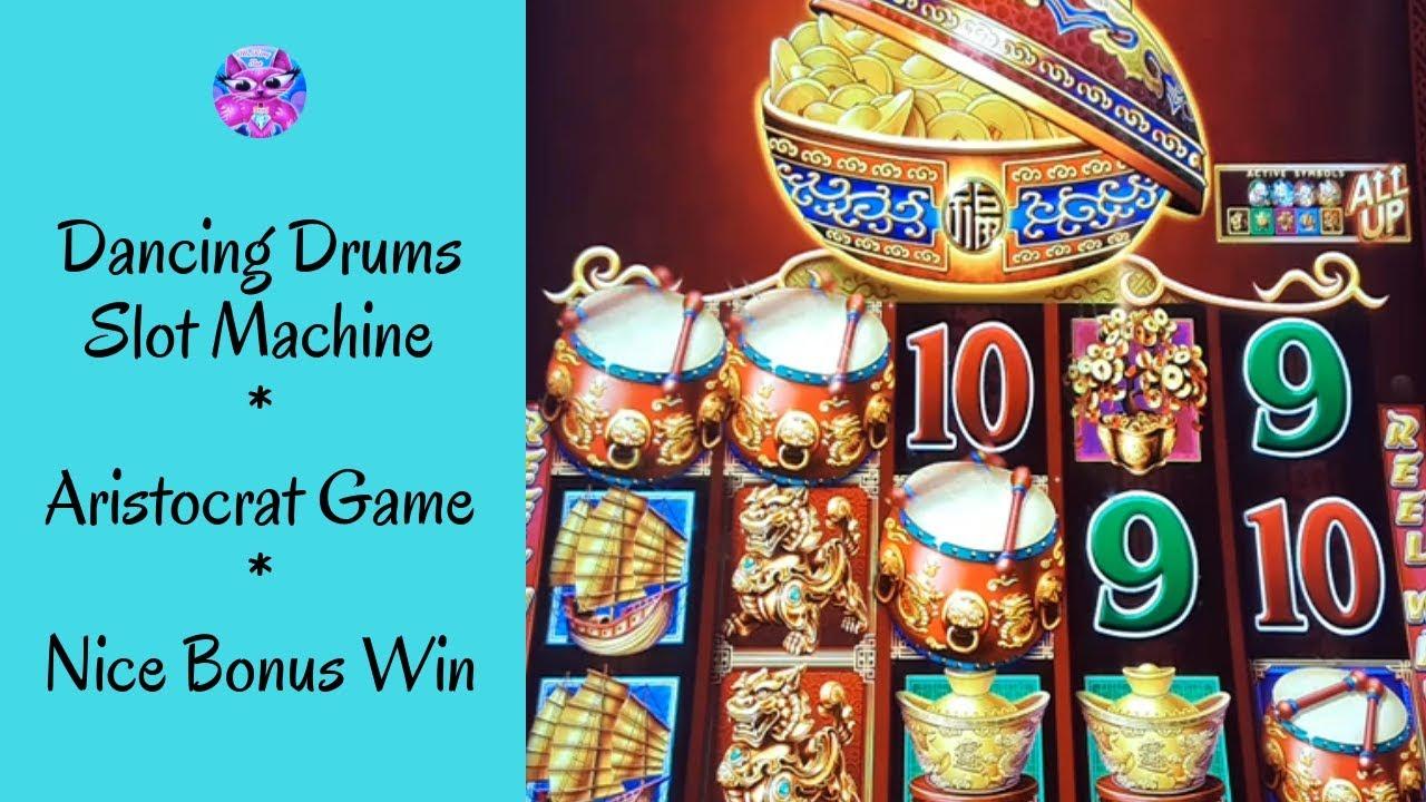 Dancing Drums Slot Machine Aristocrat Game Nice Bonus