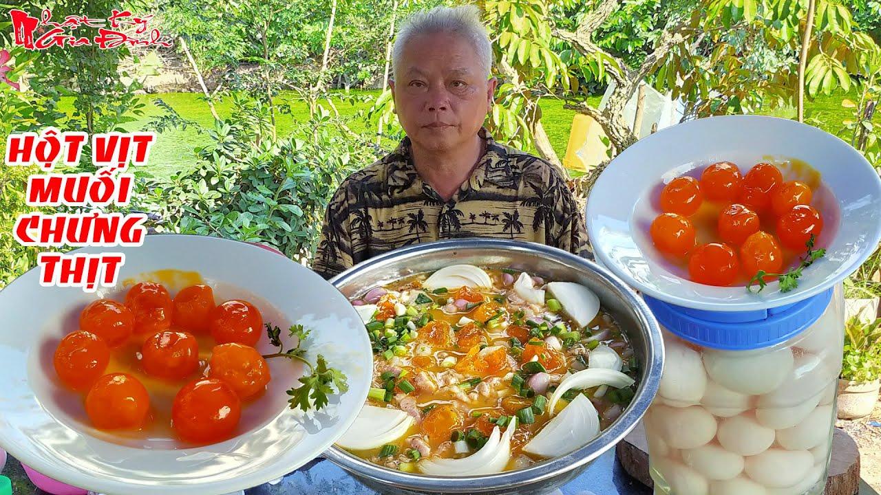 Cách Ông Bà 5 Châu Đốc Làm Hột Vịt Muối Chưng Thịt Ba Rọi Theo Kiểu Món Ăn Miền Tây | NKGĐ