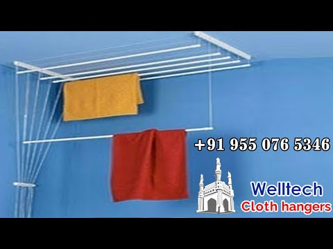 Pully System Cloth Hanger, Cloth Drying Roof Hanger, Ceiling Hanger, Wet Cloth Hanger - Hyderabad.