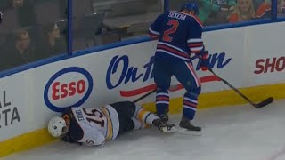 "Eichel Shaken up after Attempted Hit - Oilers Fans chant ""Connor"