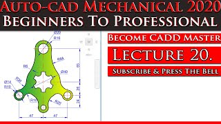 AutoCAD Mechanical Tutorial For Beginner | AutoCAD Tutorial for Mechanical Engineering| Digital CADD