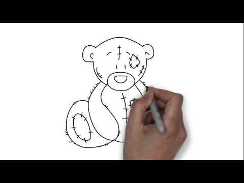 Как нарисовать мишку Тедди - простейшие рисунки