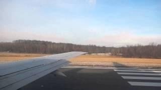 US Airways Boeing 737-400 Takeoff from Bradley International Airport
