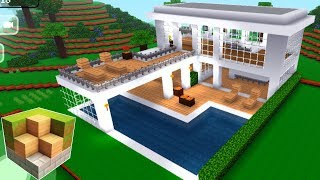 Block Craft 3D Mobile Gameplay  -Easy Modern House-