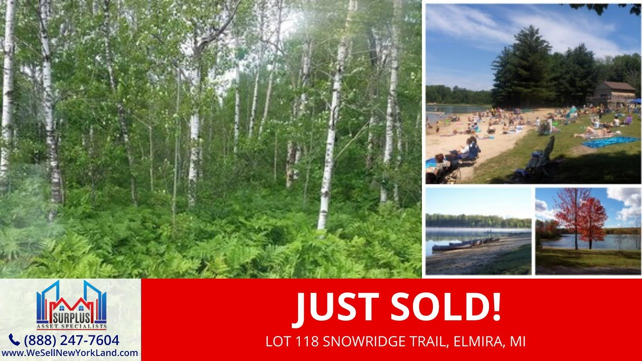 Just Sold By www.WeSellNewYorkLand.com - Lot 118 Snowridge Trail, Elmira, MI Wholesale Land For Sale
