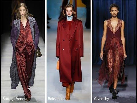 The Trendiest Fashion Fall-Winter Pantone Colors 2018-2019.