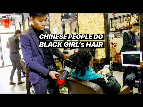 BLACK GIRL GETS HAIR DONE IN CHINA馃嚚馃嚦SHOCKING RESULTS