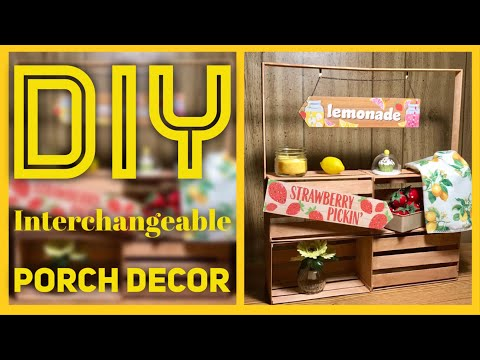 DIY Interchangeable Decor Stand  - Dollar Tree & Walmart Summer Lemon Patio or Front Porch Decor