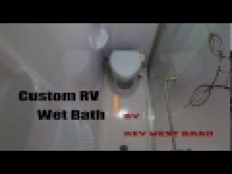 Van Tour: Box Van Build Cont. - Custom RV Wet Bath with Nature\'s ...