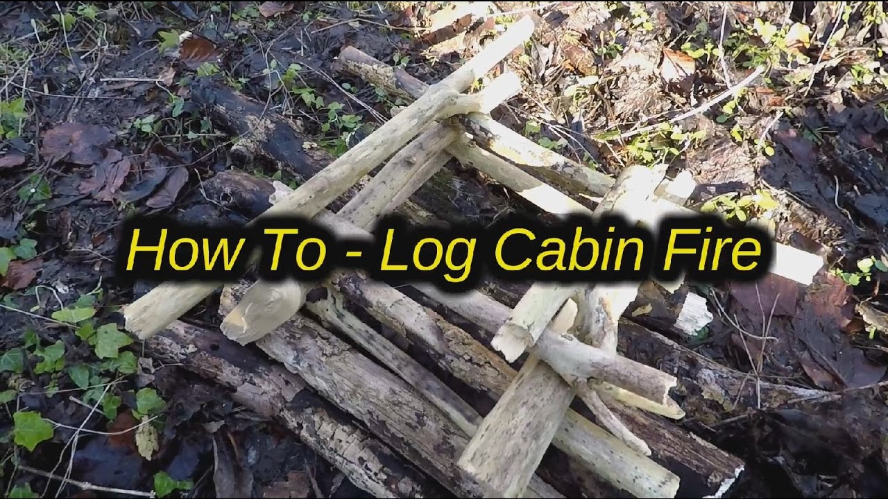 how to build a log cabin fire