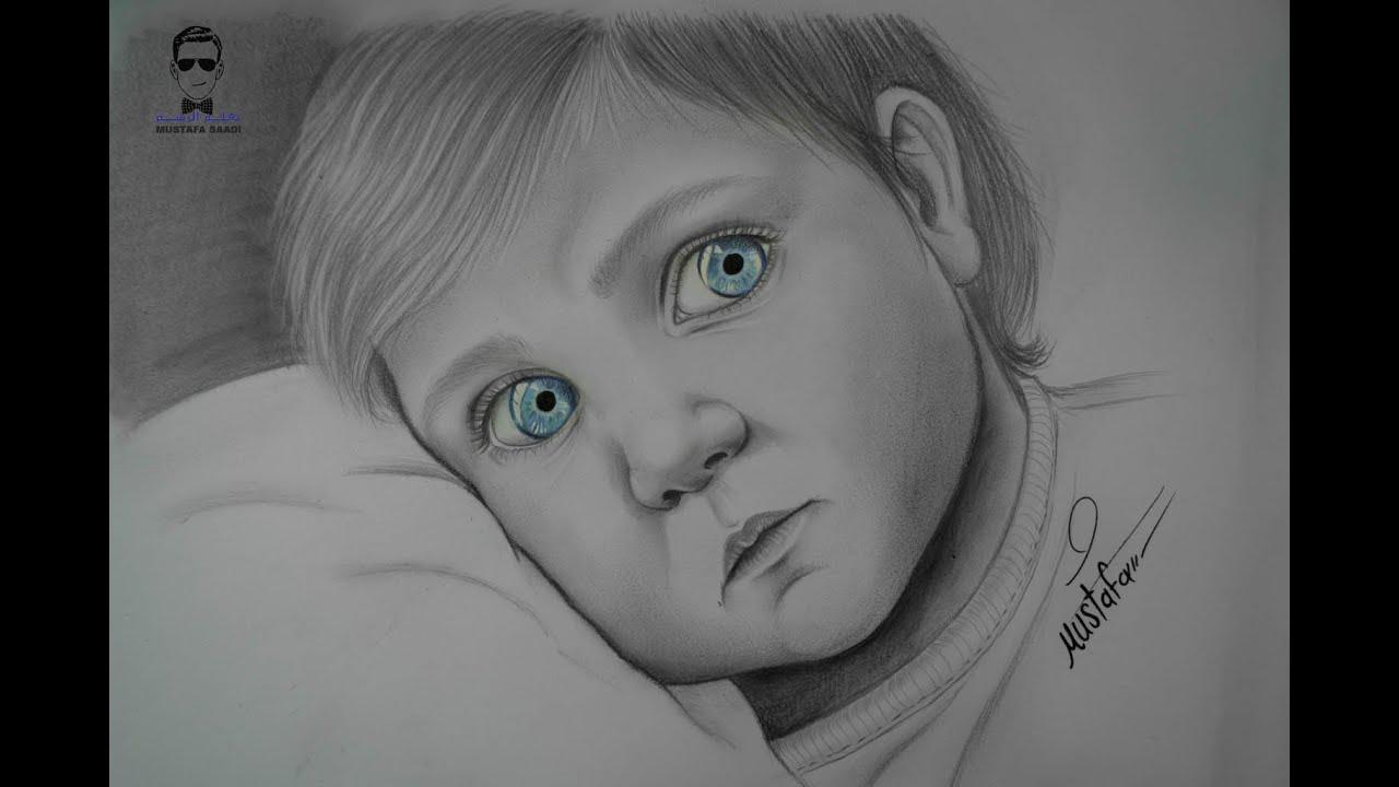 تعليم رسم طفل بالرصاص خطوة بخطوة Youtube