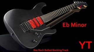 80s Rock Ballad Backing Track Ebm