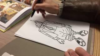 """Comment j'ai dessiné """"Sortie de route"""", la leçon de dessin de Didier Tronchet"""