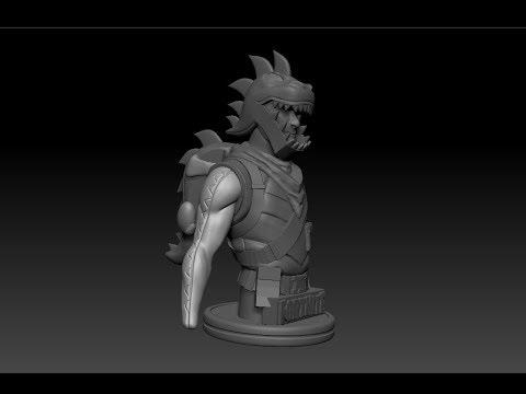 Sculpting Fortnite Characters Rex Skin With Nutcracker Showcase